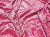 Crushed Velvet Velour Fabric Material - CERISE